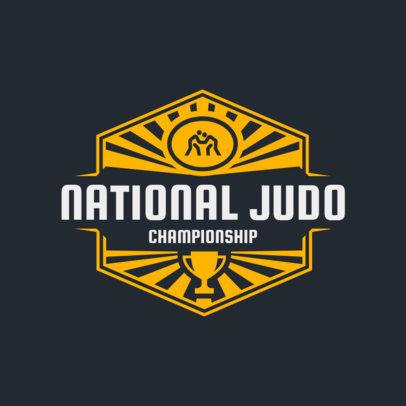 Martial Arts Logo Creator for a Judo Championship 1607a