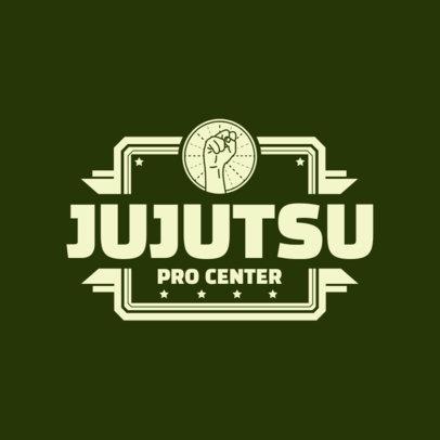 Martial Arts Logo Design Maker for Jujutsu Pro Center 1607e
