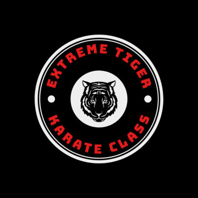 Martial Arts Logo Generator for a Karate Class 1606a