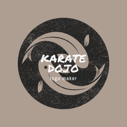Martial Arts Logo Maker with Koi Fish Clipart 1608c