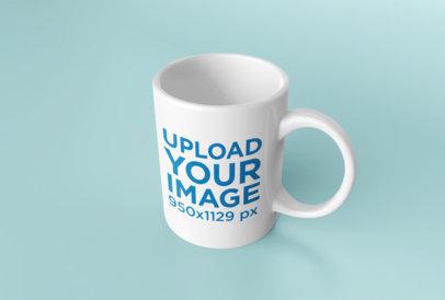 Mockup of a Coffee Mug Against a Flat Background 24488