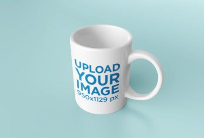 Mockup of a Coffee Mug Against a Flat Background 24488