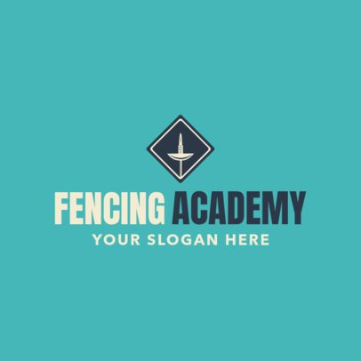 Fencing Logo Design Template for a Fencing Academy 1611d