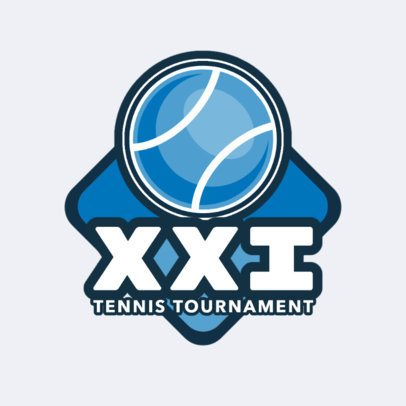 Tennis Logo Template for a Tennis Tournament 1602c