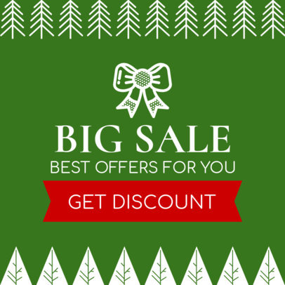 Holiday Sale Banner Template for a Big Sale 777b