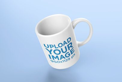 Mockup of a Coffee Mug Leaning Subtly Towards the Left 24489