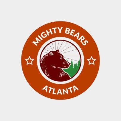 Hockey Logo Generator with Bear Illustration 1561b