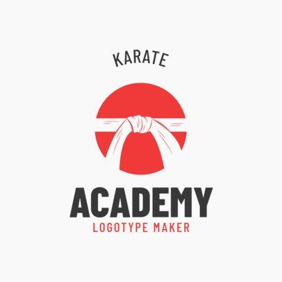 Simple Martial Arts Logo Maker for a Karate Academy 1609a