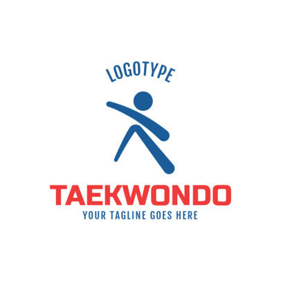 Martial Arts Logo Maker for a Taekwondo Academy 1609e