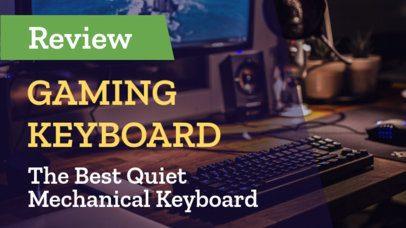 Youtube Thumbnail Generator for Gaming Keyboard Reviews 938b