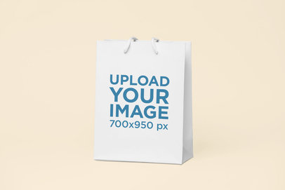 Mockup of a Gift Bag Standing on a Flat Surface 24057