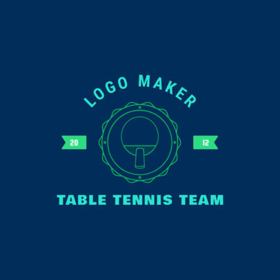Table Tennis Logo Creator with Ping-Pong Racket 1626a
