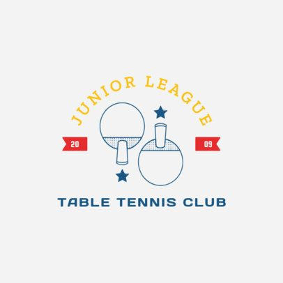 Table Tennis Logo Maker for a Junior League 1626c