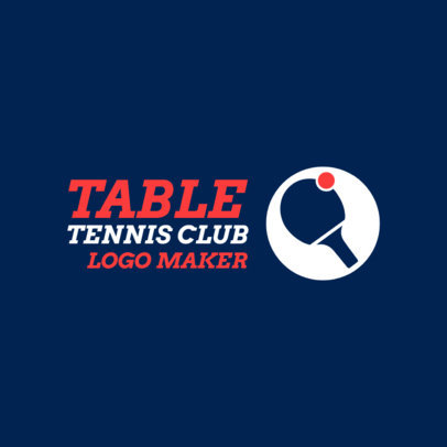 Minimalist Table Tennis Logo Generator 1623b