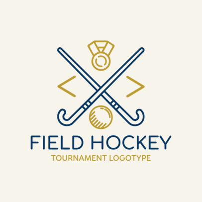 Field Hockey Logo Maker for a Tournament 1621b
