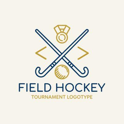 Field Hockey Logo Maker for a Tournament 1621b