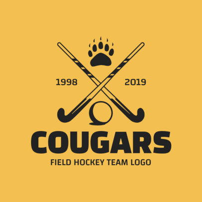 Field Hockey Team Logo Generator 1621e