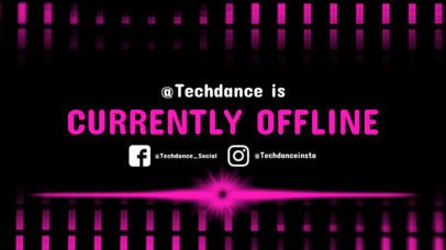 Twitch Offline Banner Template with Tech Clipart 983e