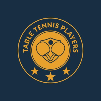 Table Tennis Logo Maker with Stars Graphics 1627a