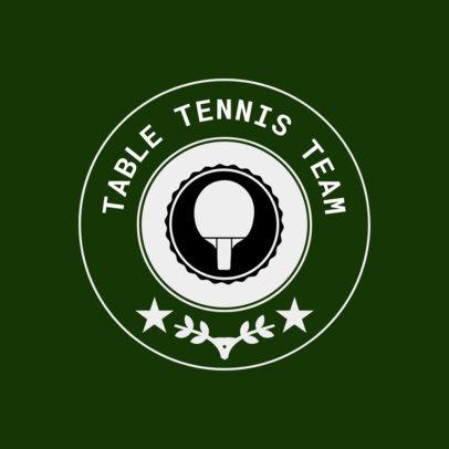 Table Tennis Logo Maker for a Table Tennis Team 1627d