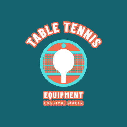 Table Tennis Logo Maker for a Table Tennis Equipment Company 1624e
