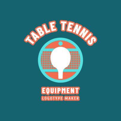 Table Tennis Logo Maker for a Table Tennis Equipment Company 1624e