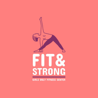 Female Fitness Logo Maker with a Yoga Clip Art 1347f