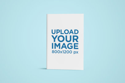 Mockup of a Book Centered in a Solid Background 24502