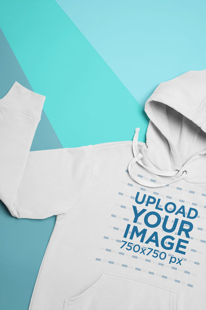Mockup of a Pullover Hoodie with One of Its Sleeves Folded Upward 24544