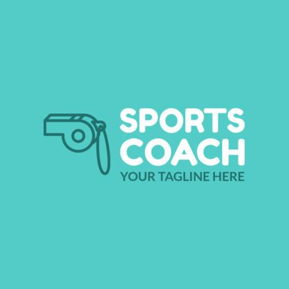 Sports Coach Logo Maker with Simple Design 1080f