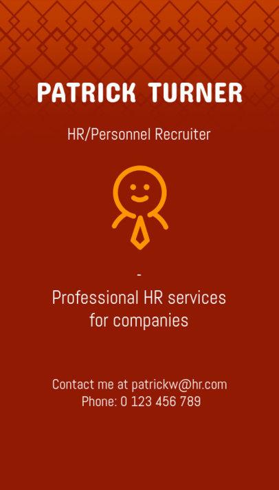 Vertical Business Card Template for an HR Recruitment Agency 672