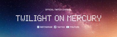 Space Themed Twitch Banner Maker 1036d