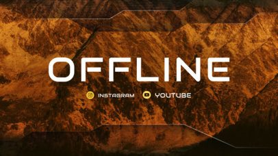 Twitch Offline Banner Maker with Brown Hues 982a