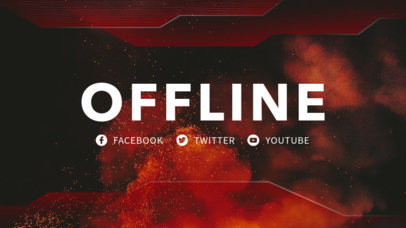 Twitch Offline Banner Maker with Fiery Backgrounds 982c