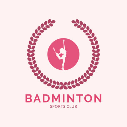 Badminton Logo Maker for a Women's Sports Club  1632e