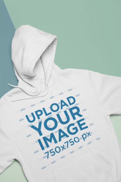 Flat Lay Mockup of a Hoodie Lying On Pasteboards 24728