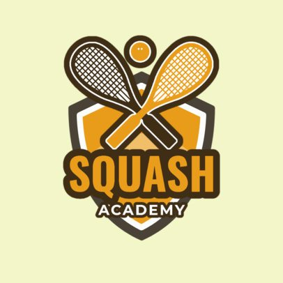 Squash Logo Design Template for a Squash Academy 1635c