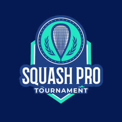 Squash Logo Generator for a Squash Tournament 1635e