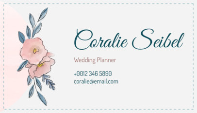 Floral Business Card Maker for Wedding Planners 113b