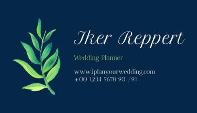Pretty Wedding Planner Business Card Maker 113c