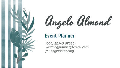 Event Planner Business Card Template 113e