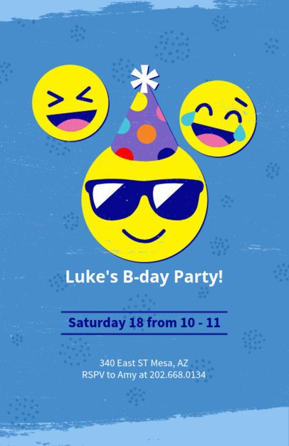 Party Flyer Maker for Kids with Emojis 223d