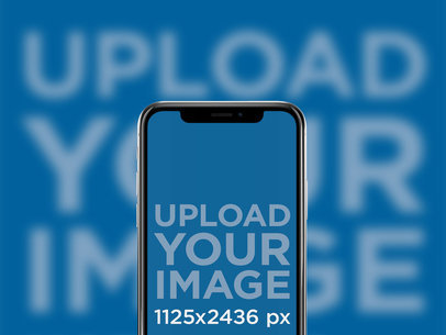 iPhone X Mockup in Portrait Position against a Blur Background 25030
