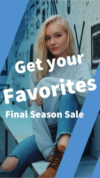 Instagram Story Video Maker to Create a Season Sale Video Ad 918