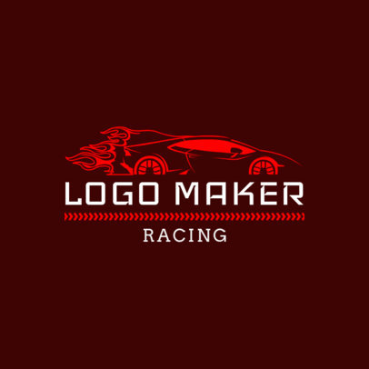 Racing Logo Design Template for Auto Race Teams 1648b