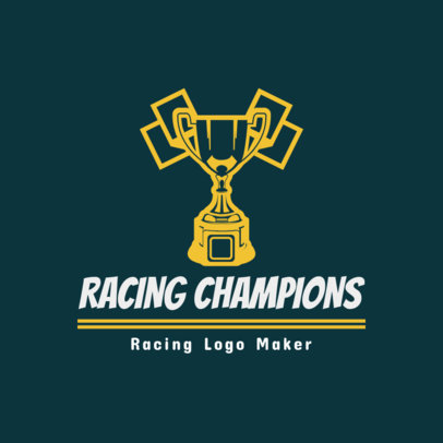 Racing Logo Maker with Trophy Clipart 1648e