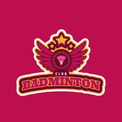 Badminton Club Logo Design Template 1628