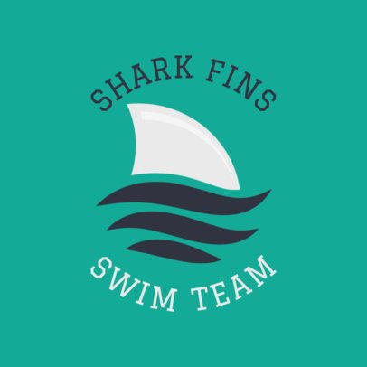 Swim Team Logo Maker with Shark Clipart 1578b