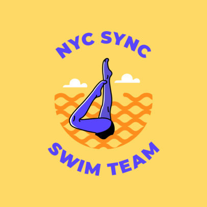 Swim Team Logo Maker for a Synchronized Swim Team 1578e