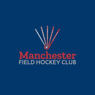 Simple Field Hockey Logo Template with Hockey Stick Graphics 1620e